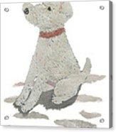 Lakeland Terrier Art Hand-torn Newspaper Collage Art Pet Portrait Acrylic Print