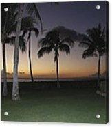 Luau Night Sunset Acrylic Print