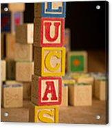 Lucas - Alphabet Blocks Acrylic Print