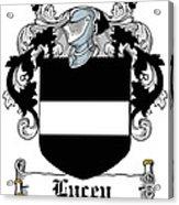 Lucey Coat Of Arms Irish Acrylic Print