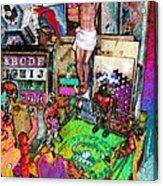 Lucha Toys Acrylic Print