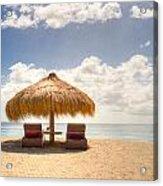 Lucian Beach Hut Acrylic Print