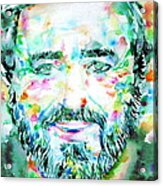 Luciano Pavarotti - Watercolor Portrait Acrylic Print
