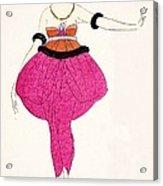 Lucile - Design For A Dress Acrylic Print