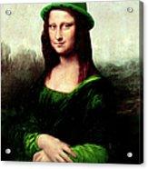 Lucky Mona Lisa Acrylic Print