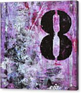 Lucky Number 8 Pink Black White Abstract By Chakramoon Acrylic Print