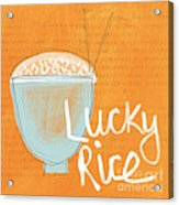 Lucky Rice Acrylic Print by Linda Woods