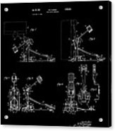 Ludwig Drum Pedal 4 Patent Art 1951 Acrylic Print