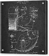 Ludwig Foot Pedal Patent Drawing From 1909 - Dark Acrylic Print