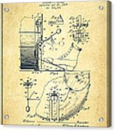 Ludwig Foot Pedal Patent Drawing From 1909 - Vintage Acrylic Print