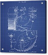 Ludwig Foot Pedal Patent From 1909 - Blueprint Acrylic Print