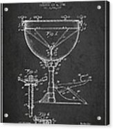 Ludwig Kettle Drum Drum Patent Drawing From 1941 - Dark Acrylic Print