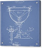 Ludwig Kettle Drum Drum Patent Drawing From 1941 - Light Blue Acrylic Print