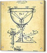 Ludwig Kettle Drum Drum Patent Drawing From 1941 - Vintage Acrylic Print