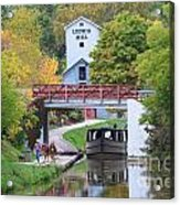 Ludwig Mill And Canal Boat  1480 Acrylic Print