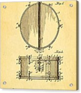 Ludwig Snare Drum Patent Art 1912 Acrylic Print