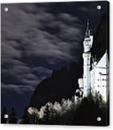 Ludwig's Castle At Night Acrylic Print