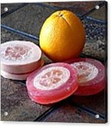 Luffa Red And Pink Soap Acrylic Print