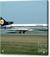 Lufthansa Boeing 727 Acrylic Print by Wernher Krutein