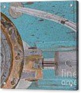 Lug Nut Wheel Left Turquoise And Copper Acrylic Print