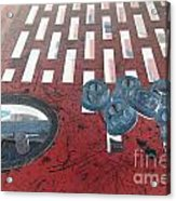Lug Nuts On Grate And Circle H Acrylic Print