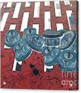 Lug Nuts On Grate Horizontal Acrylic Print