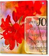 Luke 15 10 Acrylic Print