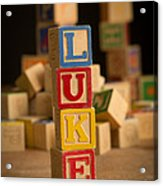 Luke - Alphabet Blocks Acrylic Print