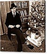 Luke On Christmas Eve Acrylic Print by Sarah Loft