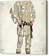 Luke Skywalker - Mark Hamill  Acrylic Print by Ayse Deniz