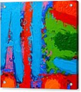 Luminous Blues Acrylic Print