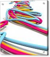 Luminous Cables Closeup Acrylic Print by Allan Swart