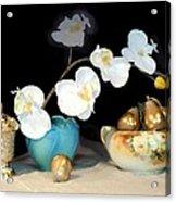 Luminous Watercolor Orchids Acrylic Print