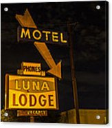 Luna Lodge Night Acrylic Print