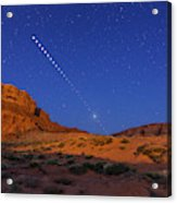 Lunar Eclipse Sequence From Monument Acrylic Print