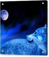 Lunar Wolf 2 Acrylic Print