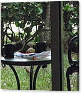 Lunch Guests Al Fresco Acrylic Print