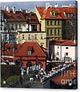 Lunch Time In Prague Acrylic Print