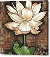 Lure Of The Lotus Acrylic Print by VLee Watson