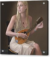 Lute Player Acrylic Print by Charles Pompilius