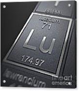 Lutetium Chemical Element Acrylic Print