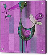 Lutgarde's Bird - 061109106-purple Acrylic Print