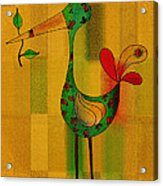 Lutgarde's Bird - 061109106-wyel Acrylic Print by Variance Collections