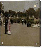 Luxembourg Gardens At Twilight Acrylic Print