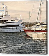 Luxury Boats At St.tropez Acrylic Print by Elena Elisseeva