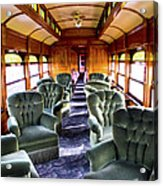 Luxury Lounge Car Of Early Railroading Acrylic Print