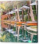 Luxury Pool With Loungers Acrylic Print