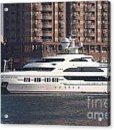 Luxury Yacht Visits Kaohsiung Port Acrylic Print