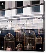 Lv Gilded Cage Bags Acrylic Print