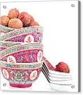 Lychees In Bowls With Spoons Acrylic Print